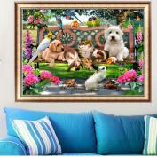 Ninko 5D DIY Crystals Diamond Rhinestone Painting Pasted Paint By Dog Cat Animals