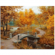 RoseSummer 3D Cross Stitch Square Diamond Embroidery Autumn Scenic