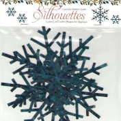 Edyta Sitar Silhouette Snowflakes Blue Lasercut Applique Shapes Set 6