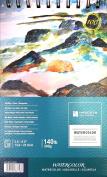 Hyacinth Papers Watercolour Book, Spiral Bound, 14cm L x 22cm W, 140 lb./300g, 10 Sheets