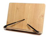 HESTIA For School pack Odin 180 angle adjustable, Portable Reading Wooden Stand/Book Stand Document Holder