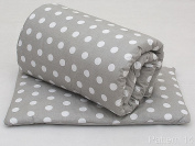 2 Piece Quilt & Pillow Bedding Set 120 x 90 cm For Cot / Cot Bed - Animal Print - Teddy Bear Beige