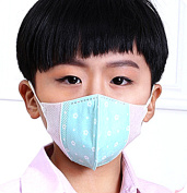 ieaysexy 5pcs Kids Non-woven Disposable Anti Dust Windproof Ear Loop Mouth Cover Face Mask