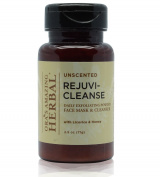 Rejuvi-Cleanse Unscented Daily Exfoliating Oil Free Face Cleanser Mask for Face, Licorice Root Based Brightener, Eczema and Psoriasis Treatment, with anti ageing Cardamom, Kaolin Clay Honey 90ml