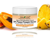 Micro-Dermabrasion-20% Papaya Pineapple Enzyme Instant Clearity Treatment 60ml-Enhanced w/ Argireline, Hyluronic Acid, Glycolic Acid, Vit. C, E, CoQ10 & more