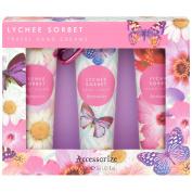 Accessorise Lychee Sorbet Travel Hand Creams 3 x 30ml