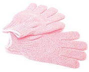 Textured Scrubber Gloves - Pink