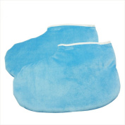 enForten Blue Paraffin Wax Protection Leg Foot Gloves Package of 1 Pair