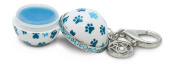 Blueberry Paw Prints - GEM CLIP Twist and Pout Lip Balm Ball
