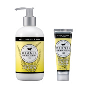 Dionis Goat Milk Body Lotion and Hand Cream 2 Piece Gift Set - White Jasmine & Shea