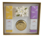 Pure Fiji Holiday Box Set – Coconut Soap (100ml) and Decorative Tin Candle plus Pineapple Body Lotion (240ml) and Passionflower Exotic Oil