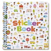 Sticker Farm Happy Day Series Travel-Size Reusable Sticker Book for Collecting and Trading, Boys and Girls Small Starter Activity Album with 75+ Puffy Stickers