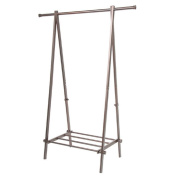 NEW! Impressively Sturdy A-Frame Garment Rack with Shelf, Bronze Finish