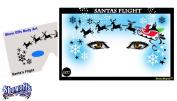 Christmas Face Painting Stencil - StencilEyes Santa Flight
