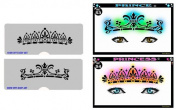 Face Painting Stencil - StencilEyes Prince & Princess Crowns