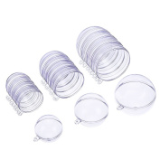 Outus DIY Clear Plastic Bath Bomb Mould Christmas Ball Ornament, 3 Size, 15 Set
