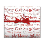 Merry Christmas Script Jumbo Rolled Gift Wrap - 6.7sqm