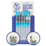 Water Brush Pen - Nylon-Hair - Assorted-Tips - Set of 6