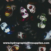 Hydrographic Film - Water Transfer Printing - Hydro Dipping - Day of The Dead Colour - 1 Metre