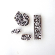 Fish and Border Jaipuri Pattern Wood Stamps for Printing