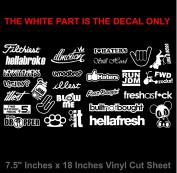JDM Mega White Vinyl Decal Sticker Pack Lot Bundle of 27 Ota#331