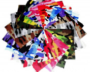 10 10X10 LAYER CAKE Kickin Camo Brights Charm Pack-10 DIFFERENT -1 OF EACH