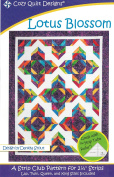 Lotus Blossom Quilt Pattern, Jelly Roll 6.4cm Strip Friendly, 4 Finished Size Options