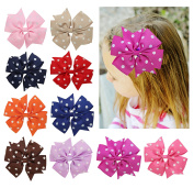 DUOQU 18 Pcs Multicolor Baby Girls Big Huge Grosgrain Ribbon Boutique Hair Bows Alligator Clips Head Headbands Fashion Hair Accessories For Teens Baby Girls Babies Toddlers