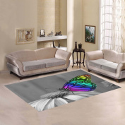 JC-Dress Area Rug Colourful Butterfly On Flower Modern Carpet 2.1mx1.5m