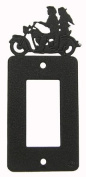 Motorcycle COUPLE GFI Rocker Light Switch Plate Cover