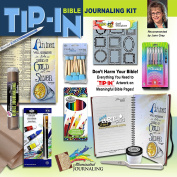 Tip-in Pen and Coloured Pencil 23cm x 23cm Bible Journaling Combo Pack of