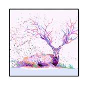 The new multicoloured diamond deer triptych painting full diamond stitch,c