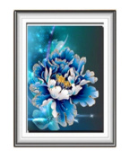 5d diamond painting Blossoming peony flower blue tie drilling diamond stitch embroidery painting the living room bedroom,2630-b