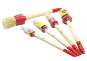 5PCS Professional Chalk Paint Wax Brush | Painting or Waxing | Annie Sloan Dark & Clear Soft Wax | Furniture, Stencils, Folkart, Home Decor, Wood | Large Brushes with Natural Bristles