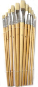 Artist Paint Brush Set 12 Pc. for Acrylic, Oil or Watercolour, Assorted Sizes