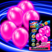 Pink Light Up Balloons - 5 Per Unit