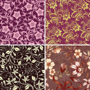FOUR 30cm x 30cm Blinggasm Vinyl Sheets Set, Flowers Pattern Outdoor Vinyl 040
