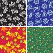 FOUR 30cm x 30cm Blinggasm Vinyl Sheets Set, Flowers Pattern Outdoor Vinyl 028