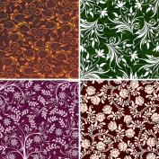 FOUR 30cm x 30cm Blinggasm Vinyl Sheets Set, Flowers Pattern Outdoor Vinyl 026