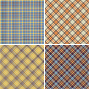 FOUR 30cm x 30cm Blinggasm Vinyl Sheets Set, Plaid Pattern Outdoor Vinyl 007