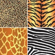 FOUR 30cm x 30cm Blinggasm Vinyl Sheets Set, Leopard, Tiger, Zebra, Giraffe Animal Pattern Outdoor Vinyl 009
