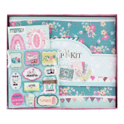 FaCraft Scrapbooking Album Kit Vintage hand make photo album with 20cm x 20cm Pages Protecters Pockets