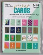 Be Bold Be Bright Pocket Cards - Set of 36 Double Sided 3x4