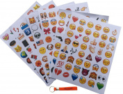 Emoji Stickers 12 Sheets with Popular Happy Emojis Faces Icons Kids Stickers from iPhone