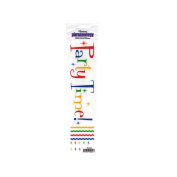 JT Scrapbooking Craft Activity Party Time Creative Rub-On Transfers - 24 Pack