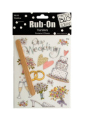 JT Scrapbooking Craft Activity Wedding Rub-On Transfers - 24 Pack