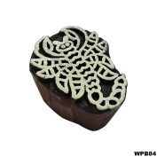 Indian Textile Printing Block Traditional Art on Fabric Wood Print Scorpio Design Wooden Stamp Clay