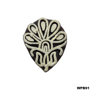 Wooden Printing Block Hand Carved Stamp Decorative Blocks Wood Block Floral Design Tattoo Textile Stamp