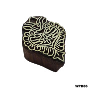 Indian Floral Wooden Printing Block Fine Art Decorative Blocks Indian Wooden Stamps Hand Curved Textile Tattoo