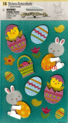 EASTER EGG CHICK BUNNY BASKET DIMENSIONAL STICKERS